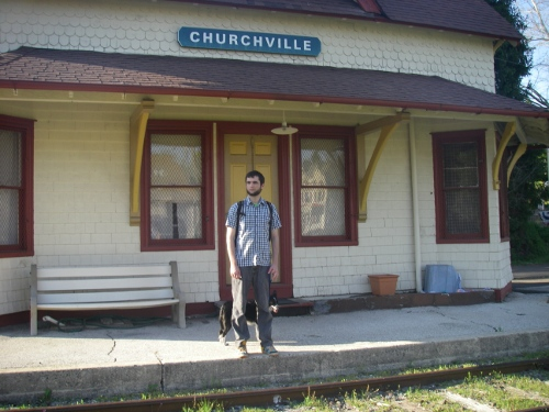 mrak at churchville train station