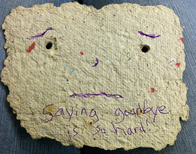 Saying Goodbye to Recycled Paper Man
